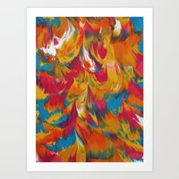 psychedelic Art Prints featuring Psychedelic by DuckyB