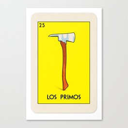 BB Loteria Card No.25 - The Cousins Canvas Print