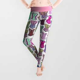 Retro Sexy Colorful Girly Corsets Pattern Leggings