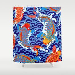 Koi fish / japanese tattoo style pattern Shower Curtain