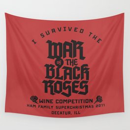 War of the Black Roses Wall Tapestry