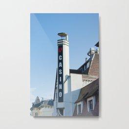 Casino Le Touquet Metal Print
