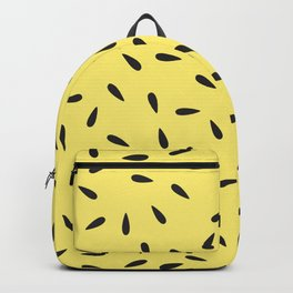 Watermelon Seeds on Yellow Buttercup Background Backpack