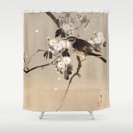 Birds on a Flowering Branch Shower Curtain