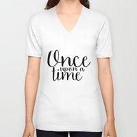once upon a  time V-neck T-shirts featuring Once Upon a Time by bookwormboutique