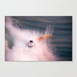 Surfer wipes out while surfing Canvas Print
