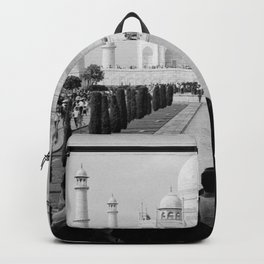 Taj Mahal with people Backpack