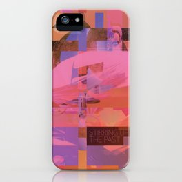 Stirring Up The Past (mixed media) iPhone Case