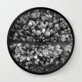 The Forest (Black and White) Wall Clock