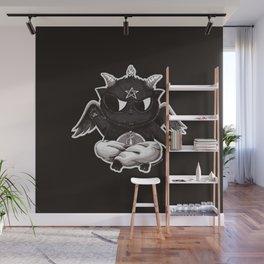Black Cathomet Wall Mural