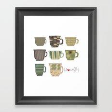 I {❤} Coffee Framed Art Print
