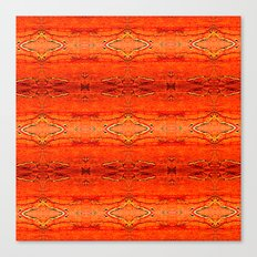 Orange Aztec Pattern 2 Canvas Print