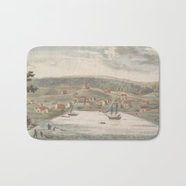 Vintage Pictorial Map of Baltimore MD in 1752 Bath Mat