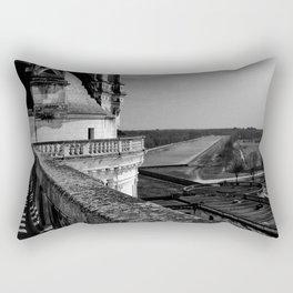 Château de Chambord I - Renaissance Architecture Medieval Art Gothic Ominous Dark Castle Rectangular Pillow