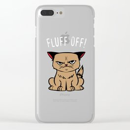 Sarcasm Cat Hasse human evil joke gifts Clear iPhone Case