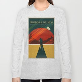 Vintage Adventure Travel Phobos and Deimos Long Sleeve T-shirt