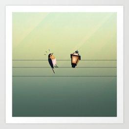 Feeling Wired (Green) Art Print