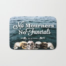 No Mourners - White Bath Mat