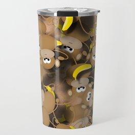 Monkeys And Bananas Travel Mug