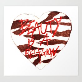 BeautyIsAReligion `ZEBRA HEART` Art Print