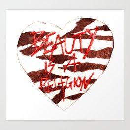 BeautyIsAReligion `ZEBRA HEART` Art Print