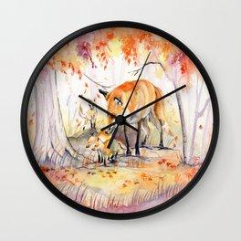 My Garden in Autumn Wall Clock