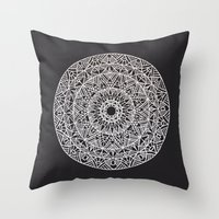 spiritual Throw Pillows featuring Spiritual Mandala by msimona