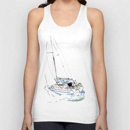 Cirrus/ Sailingboat Unisex Tank Top