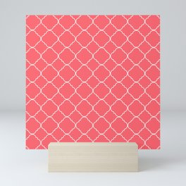 Coral Red Moroccan Mini Art Print