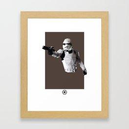 Stormtrooper Polygon Mesh Framed Art Print
