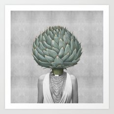 artichoke head Art Print