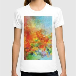 Abstract and Minimalist Landscape Painting T-shirt