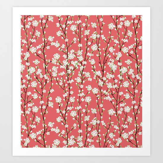 Go Orient Cherry Blossoms Art Print