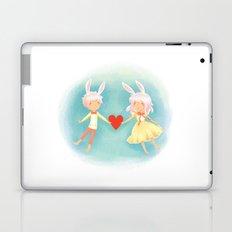 Bunny Hearts Laptop & iPad Skin