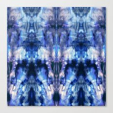 Blue Lagoon Tie-Dye Canvas Print