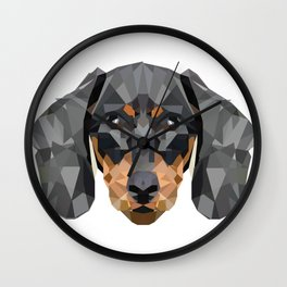 Dachshund | Low-poly Art Wall Clock