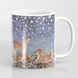 whitetail fawns under the stars Coffee Mug
