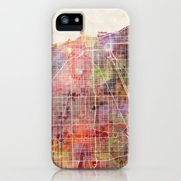 Chicago map iPhone Case