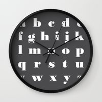 letter Wall Clocks featuring letter by FlowerZen