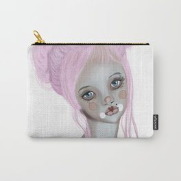 Pink circus clown girl Carry-All Pouch