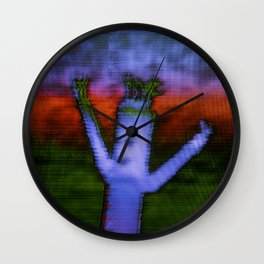 Bend - Glitch Wall Clock