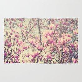 Magnolia Blossoms Early Spring Botanical Rug