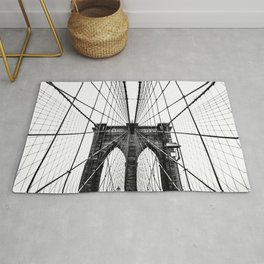 Brooklyn Bridge Web Vertical Rug
