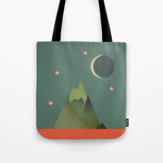 Mountains Under the Stars Tote Bag