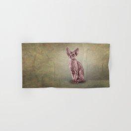 Drawing cat Cornish Rex Hand & Bath Towel