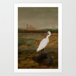 Marshland vs Man Art Print