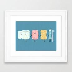 The Bathroom Gang Framed Art Print