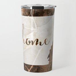 Arkansas is Home - Camo Travel Mug