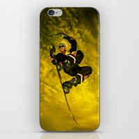 snowboarding iPhone & iPod Skins featuring Snowboarding #1  by Bruce Stanfield