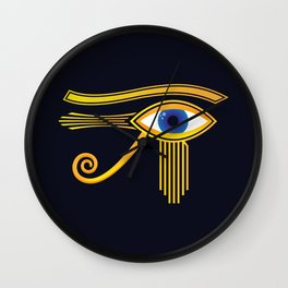 Eye of Horus Gold Ancient Egyptian Amulet Wall Clock
